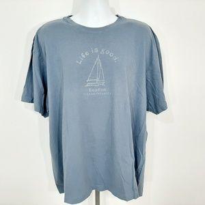 Life Is Good Boston Mass Men's T-shirt Size 2XL Bl